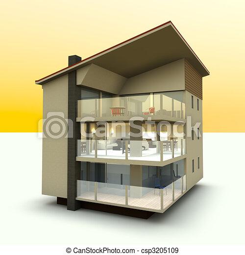 Modern building - csp3205109
