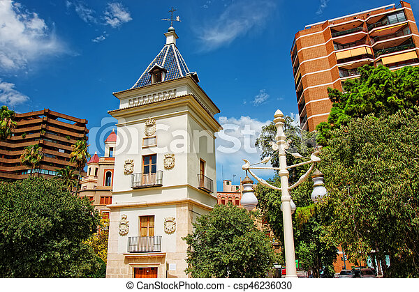 Modern building in city center of Valencia - csp46236030