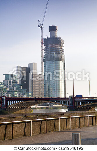 Modern Building In London Under Construction A Riverside