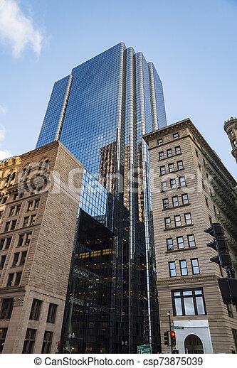 Modern buildings in the city of Boston, Massachusetts USA - csp73875039