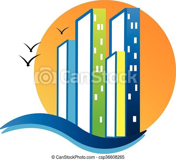Modern buildings logo - csp36608265