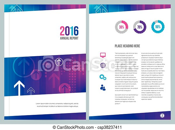 modern business annual report cover design csp38237411