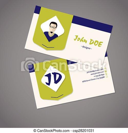 Modern business card design modern business card front and back modern business card design csp28201031 reheart Gallery