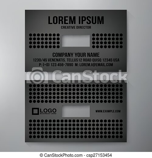 Modern Business Card Design Template Vector Illustration