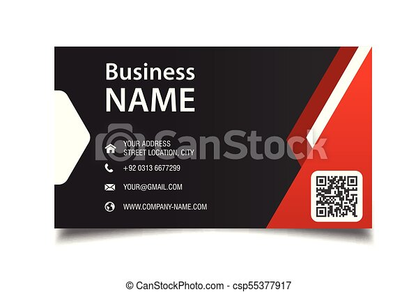 Modern business card red and black background vector image modern business card red and black background vector image reheart Images