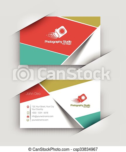Modern business card set modern business card vector template modern business card set csp33834967 reheart Image collections