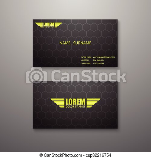 Modern business card template clipart vector search illustration modern business card template csp32216754 reheart Gallery