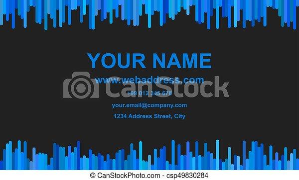 Modern business card template design id card illustration modern business card template design id card illustration with vertical stripes in blue tones on flashek Choice Image
