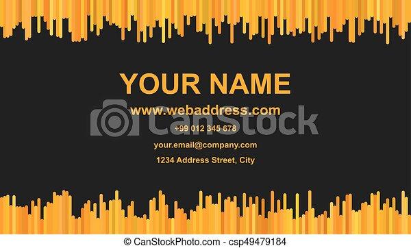 Modern business card template vector id card design with vector modern business card template vector id card design with vertical stripes in xyz tones on black flashek Choice Image