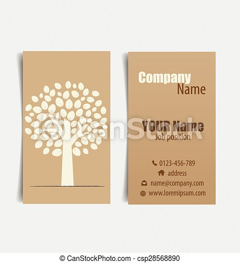 Modern business card template with nature background vector eps modern business card template with nature background vector illustration reheart Images