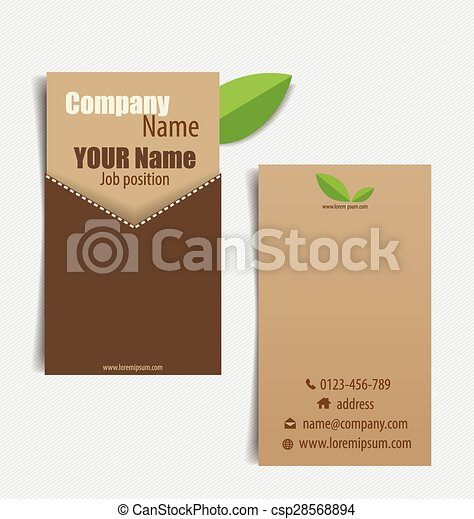 Modern business card template with nature background vector modern business card template with nature background vector illustration reheart Images