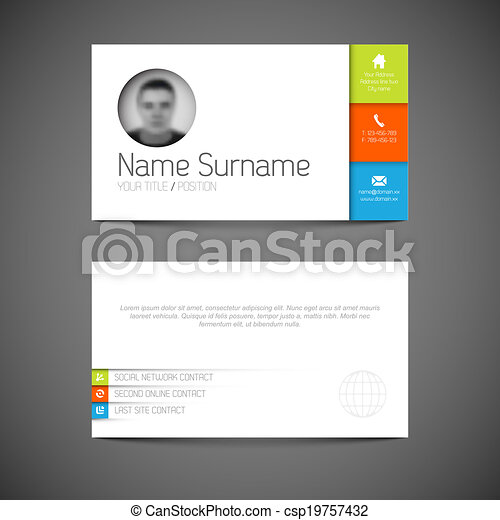 Modern business card template with flat user interface modern modern business card template with flat user interface csp19757432 accmission Images