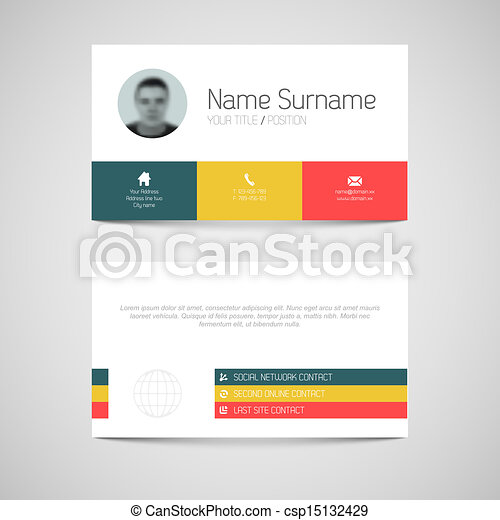 Modern business card template with flat user interface modern modern business card template with flat user interface csp15132429 flashek Images