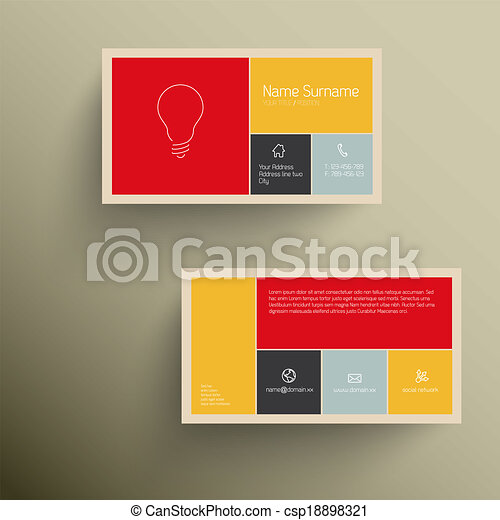 Modern business card template with flat mobile user vector modern business card template with flat mobile user interface vector reheart Gallery