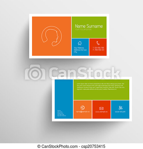 Modern business card template with flat mobile user interface modern business card template with flat mobile user interface csp20753415 cheaphphosting Gallery