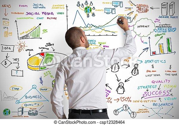 Modern business concept - csp12328464