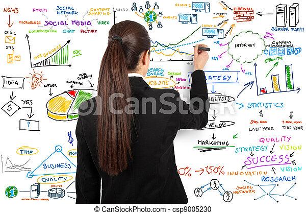Modern business concept - csp9005230