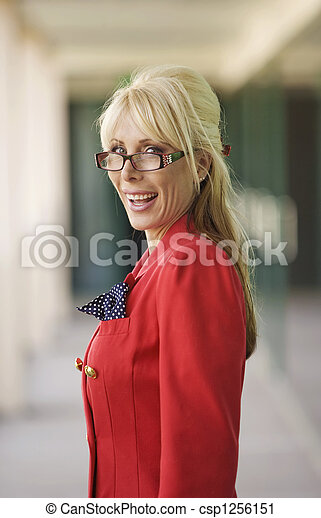 Modern Businesswoman - csp1256151