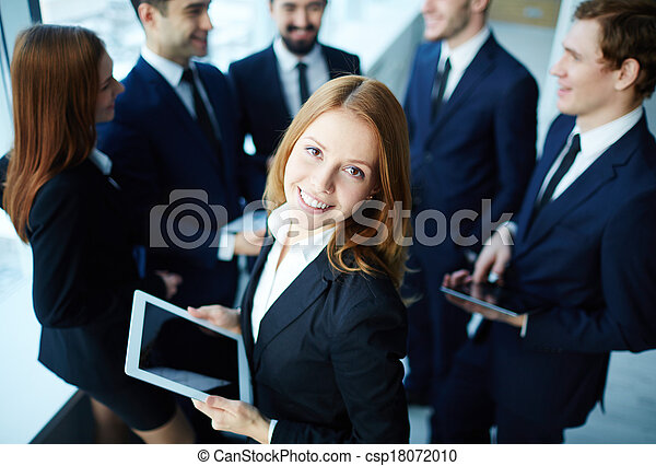 Modern businesswoman - csp18072010