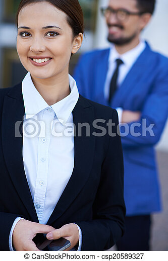 Modern businesswoman - csp20589327