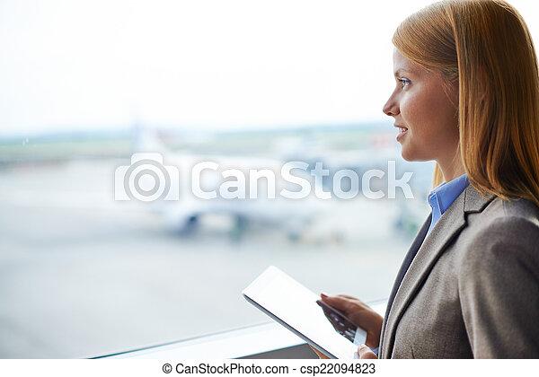 Modern businesswoman - csp22094823