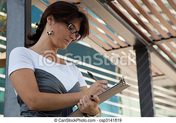 modern businesswoman - csp3141819