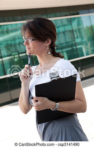 modern businesswoman - csp3141490