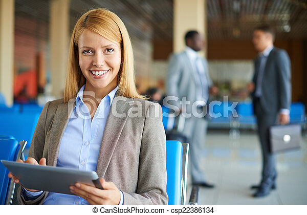 Modern businesswoman - csp22386134