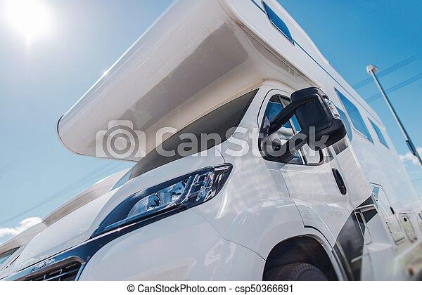 Modern Camper Van In Sun
