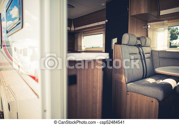 Modern Camper Van Interior Rv Traveling Concept
