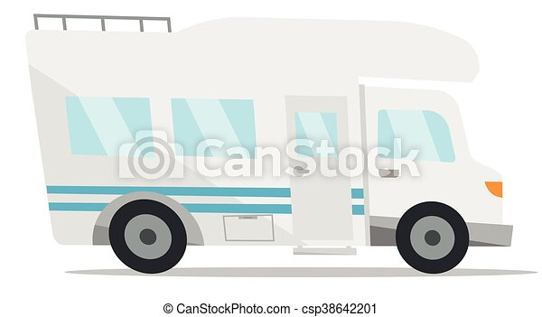 Modern Camper Van Vector Illustration