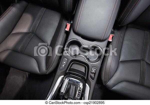 Modern Car Interior Top View - csp21902895