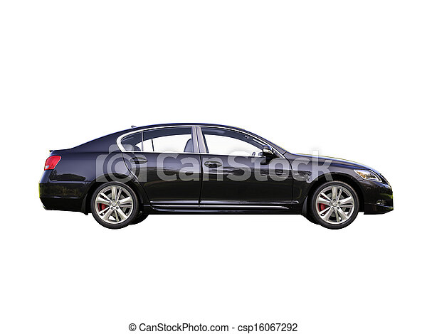 Modern car is isolated on a white - csp16067292