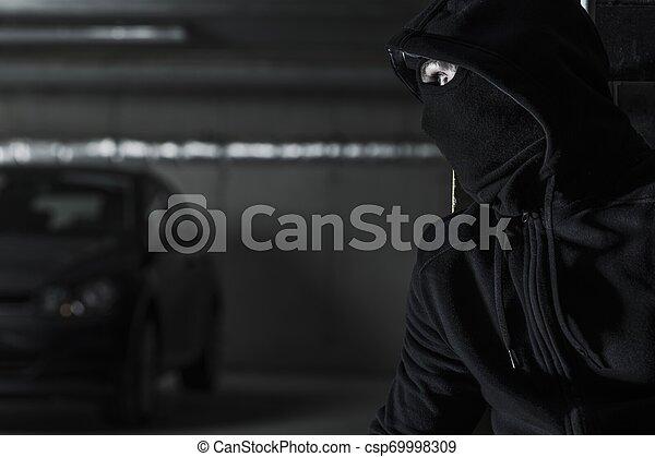 Modern Car Stealing Concept - csp69998309
