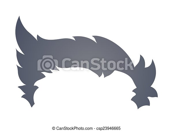 Line Art Illustration Style : Modern cartoon boy hairstyle. stylish hair clip
