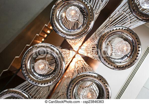 modern ceiling lighting - csp23846363
