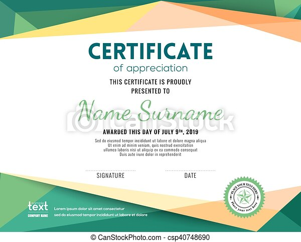 Modern certificate background design template modern eps vectors modern certificate background design template csp40748690 yadclub Image collections