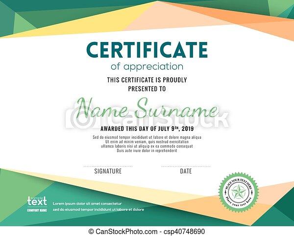 modern certificate background design template csp40748690