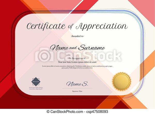 Modern certificate of appreciation template with modern eps modern certificate of appreciation template with modern colorful pattern in vector illustration yadclub Gallery