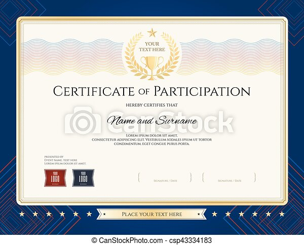Certificate Of Participation Template | Modern Certificate Of Participation Template With Colorful Wave