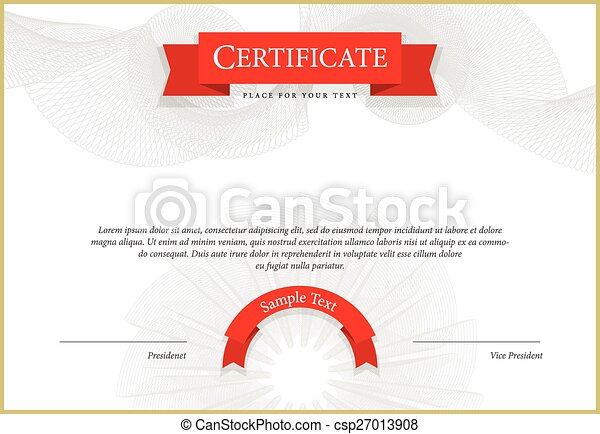 Modern Certificate Template Diplomas Currency Vector Modern