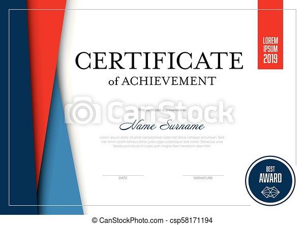 modern certificate template csp58171194 - Modern Certificate Template