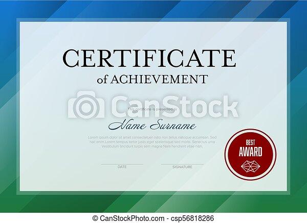 modern certificate template csp56818286 - Modern Certificate Template