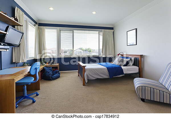 Modern childrens bedroom. Modern childrens room in with... stock ...