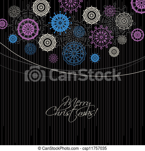 Modern Christmas background  - csp11757035