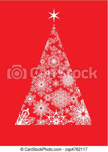 modern christmas greeting card - csp4762117