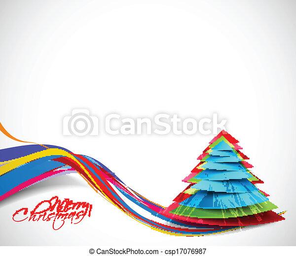 Modern Christmas Tree Background - csp17076987