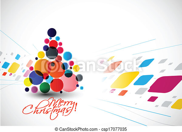 Modern Christmas Tree Background - csp17077035