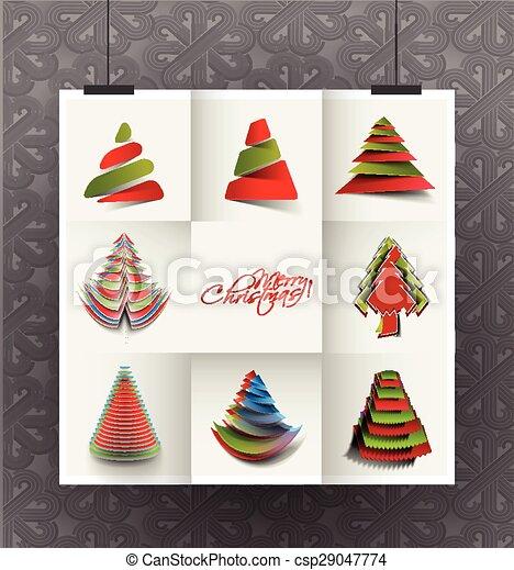 Modern Christmas Tree Background - csp29047774