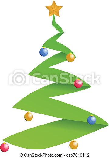 Modern Christmas Tree Illustration Design